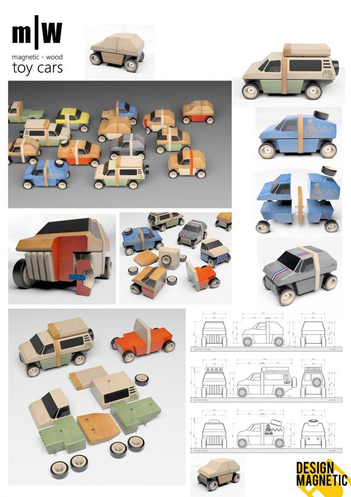 Ideea simpla a lui Vlad Oana cu masini modulare magnetice ne-a placut si a primit votul juriului