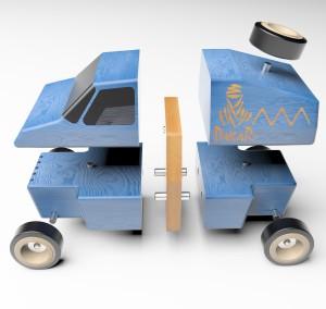 Prinderea pieselor modulare este extrem de usoara cu ajutorul magnetilor neodim