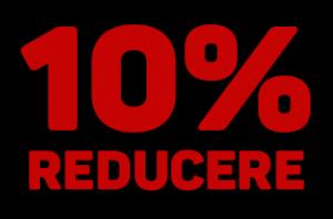 10% reducere la tarf