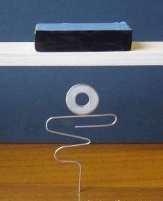 4. Saiba in echilibru pe o agrafa partial desfacuta.