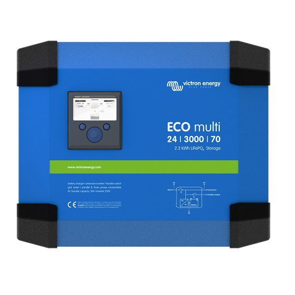 ECOmulti 24/3000/70-50 2,3 kWh LiFePo4 Inverter/chargers