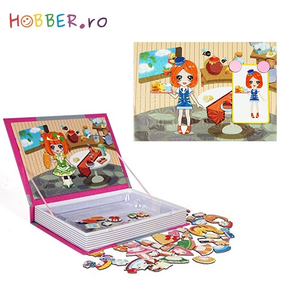 Puzzle magnetic - Magnetic Book Kitchen Dressup Baby