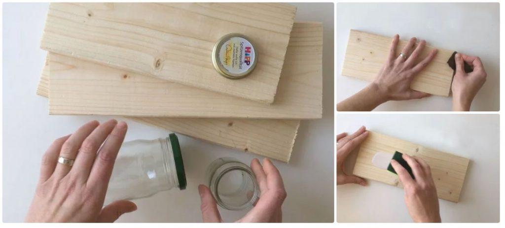 Placă lemn pentru suport cu magneți pentru chei