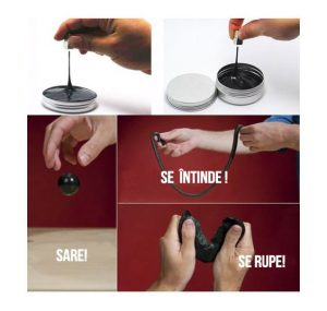 Plastilina inteligentă magnetică care se poate întinde, rupe și sare