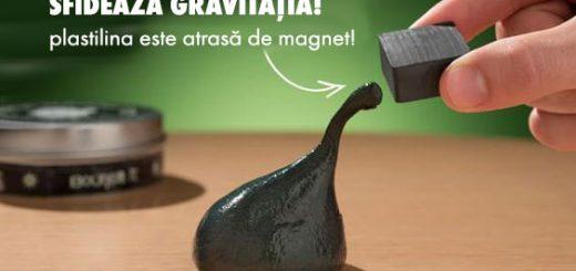 Plastilina inteligenta magnetica urmareste magnetul