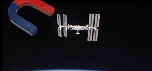 Un magnet langa ISS
