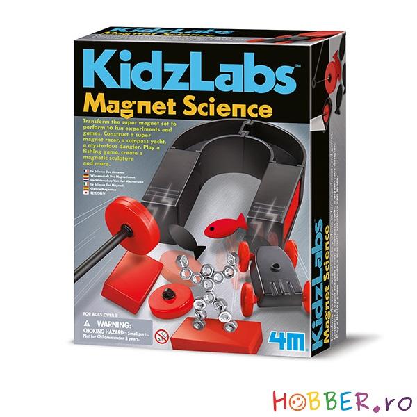 Kitul magnetic pentru experimente,  Magnet science.