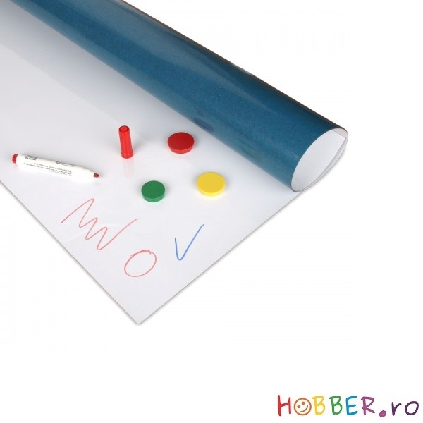 Folie whiteboard autoadeziva, latime 62 cm, grosime 0,6 mm