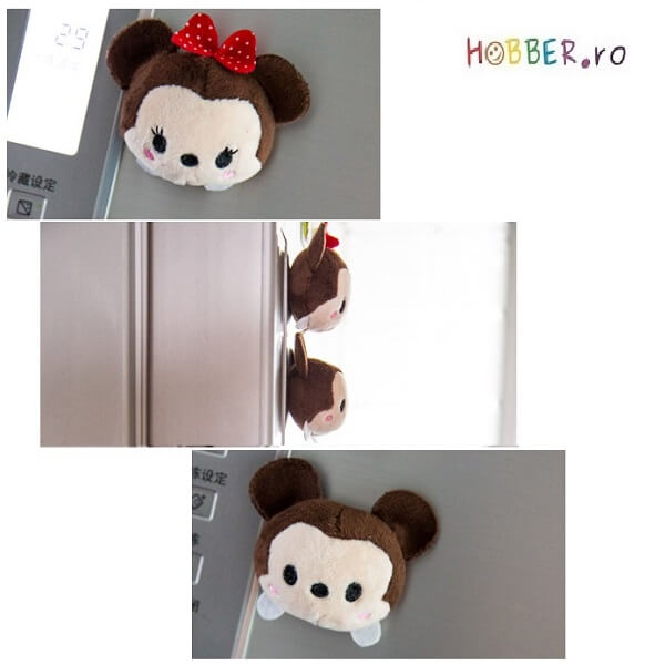 Set de doi magneti de frigider, din plus (Minnie si Mickey)
