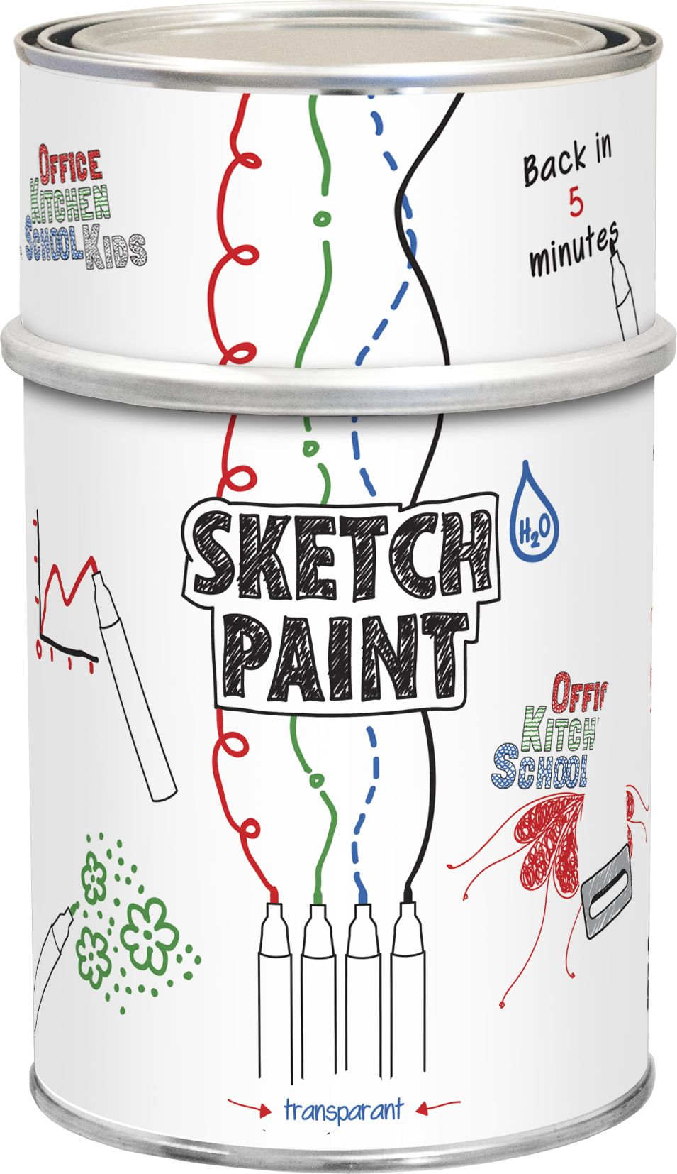 Vopsea Whiteboard Sketch Paint Transparent 0,5 L